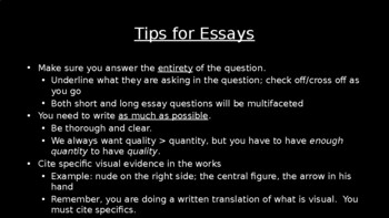 AP Art History Essay Tips and Preparation for Students