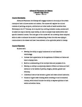 AP Art History - Full Syllabus