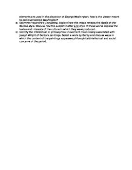 AP Art History Unit 26 (18th c. European Art) Study Guide