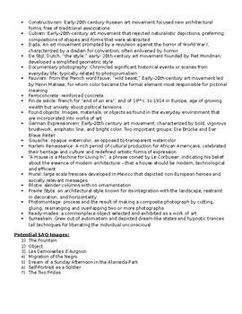 AP Art History Unit  29 (1st Half of 20th c. Art) Study Guide