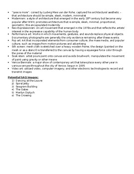 AP Art History Unit 29 (Late 20th century) Study Guide