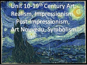 AP Art History: Realism, Impressionism, Post-Impressionism, Art Nouveau CA4
