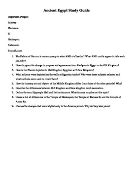 AP Art History Study Questions for the Ancient near East,