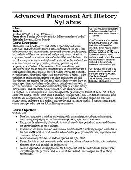 AP Art History Syllabus