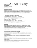 AP Art History Syllabus - Student Copy for the Redesign