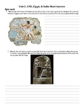 AP Art History Test Unit 2: Ancient Near East & Egyptian