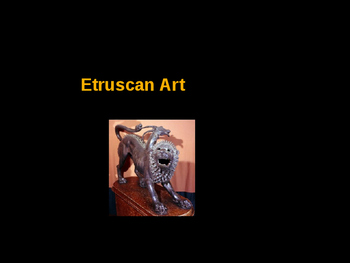 AP Art History Unit 3 Etruscan Powerpoint