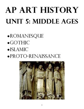 AP Art History Unit 5 Workbook: Medieval Europe and Islamic Art