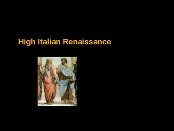 AP Art History Unit 6 High Italian Renaissance Powerpoint