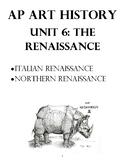 AP Art History Unit 6 Workbook for European Renaissance