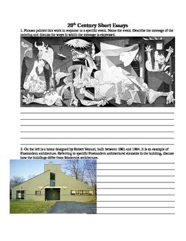 AP Art History Unit 9: 20th Century Test