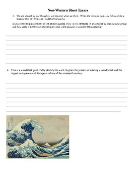 AP Art History Unit 9 Multiple Choice & Short Answer Exam