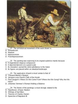 AP Art History Unit Test: Realism, Impressionism, Post-Impressionism CA4