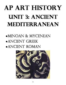 AP Art History Unit 3 Workbook: Ancient Aegean, Ancient Greece, Ancient Rome