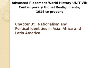 AP Between the Wars: Nationalism in Asia, Africa, and Latin America