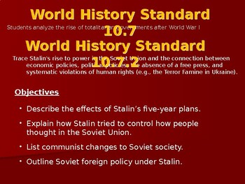 AP Between the Wars: Stalin Comes to Power
