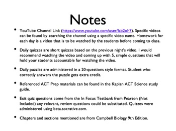 AP Bio Big Idea 2 - Homeostasis: Complete Unit Plan for the Flipped Classroom