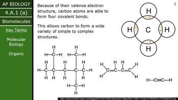 AP Biology (2015) - 4.A.1 - Biomolecules PowerPoint