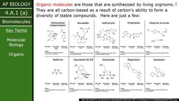 AP Biology (2015) - 4.A.1 - Biomolecules PowerPoint