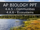 AP Biology (2015) - 4.A.5/6 - Community & Ecosystem Interactions PowerPoint