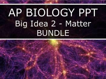 AP Biology (2015) - Big Idea 2: Matter - PowerPoint BUNDLE