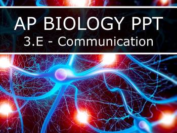AP Biology (2015) - Unit 3.E - Communication PowerPoint