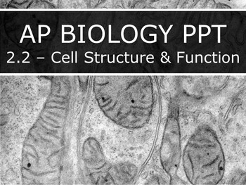 AP Biology (2019) - 2.2 - Cell Structure & Function PPT