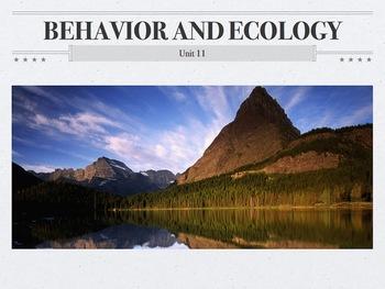AP Biology Behavior and Ecology Unit (Flipped Classroom)