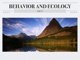 AP Biology Behavior and Ecology Unit (Flipped Classroom)