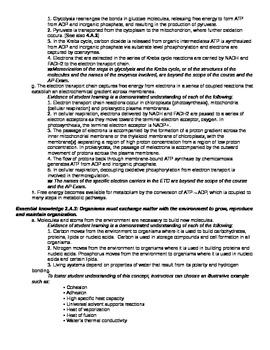 AP Biology Big Ideas Review Outline