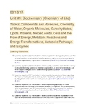 AP Biology Biochemistry Study Guide