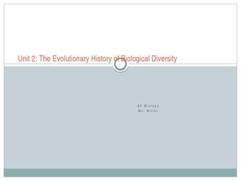 AP Biology Biological Diversity Unit Slides