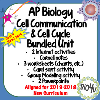 Ap Biology Cell Communication Bundled Unit By Bio4u High School Biology