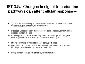 AP Biology: Changes in Signal Transduction Pathways