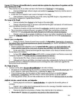 AP® Biology Chapter 22 Evolution Notes