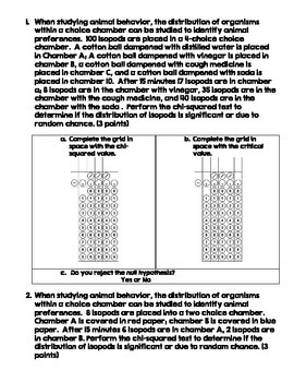AP Biology Chi-Squared Practice Problems Practice Set 2