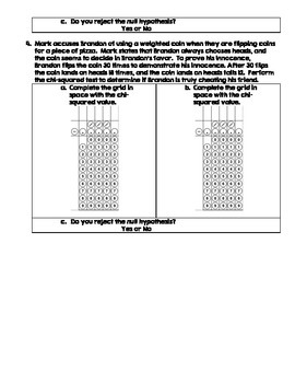 AP Biology Chi-Squared Problems Set 1 (With Grid in Answer Option)