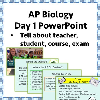 Welcome to AP Biology PowerPoint, Revised for 2020