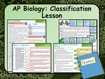 AP Biology:  Ecology, Classification Lesson & Activities