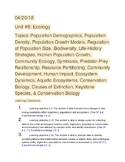 AP Biology Ecology Study Guide
