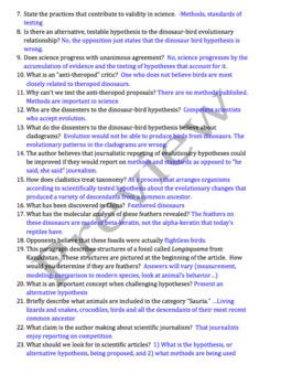 AP Biology Evolution Homework Reading