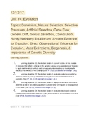 AP Biology Evolution Study Guide