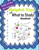 AP Biology Exam Helpful Tips Handout