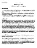 AP Biology Fruit Fly Lab - the Genetics of Drosophila mela