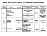 AP Biology Full Year Pacing Guide