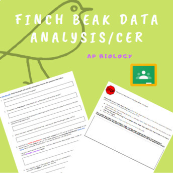 AP Biology- HHMI Data Points- Finch Beak Depth Data Analysis and CER