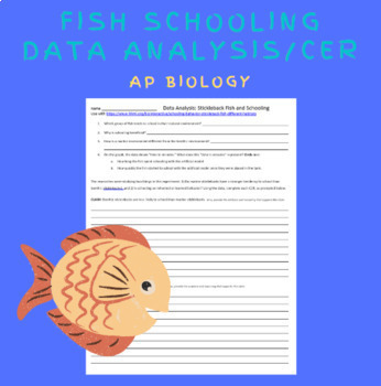 AP Biology- HHMI Data Points- Fish Schooling Data Analysis and CER