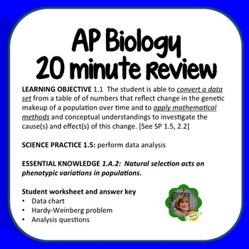 AP Biology Objective 1.1, Mathematical Methods for Studying Natural Selection