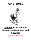 AP Biology Original Essay Questions (not from exam- new)