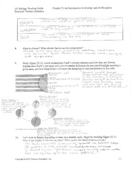 AP Biology Reading Notes Ecology Chapter 52 and 53 KEY